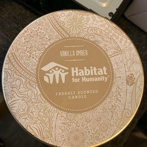 Vanilla ember candle, habitat of humanity, new